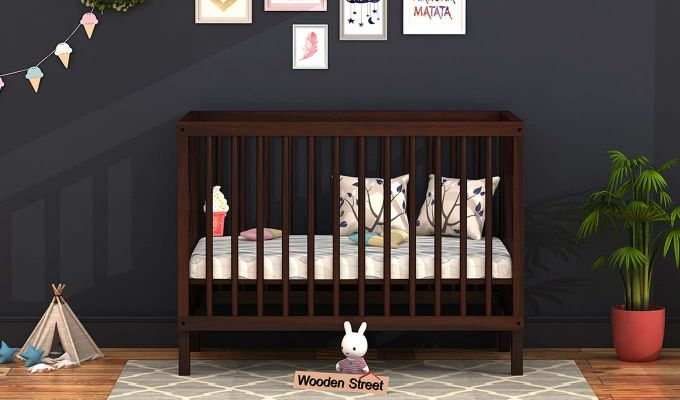 Revo Crib (Walnut Finish)-1