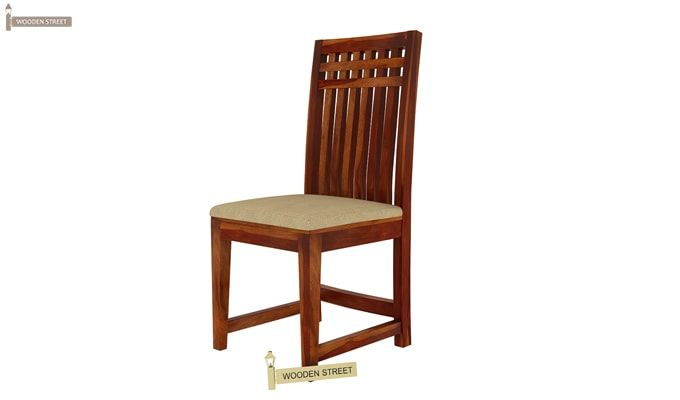 Adolph Dining Chair With Fabric (Honey Finish)-3