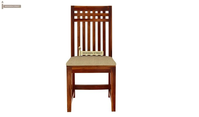 Adolph Dining Chair With Fabric (Honey Finish)-4
