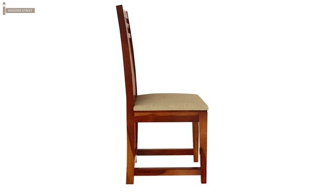 Adolph Dining Chair With Fabric (Honey Finish)-5
