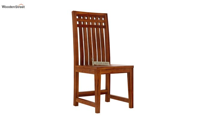 Adolph Dining Chair without Fabric (Honey Finish)-1