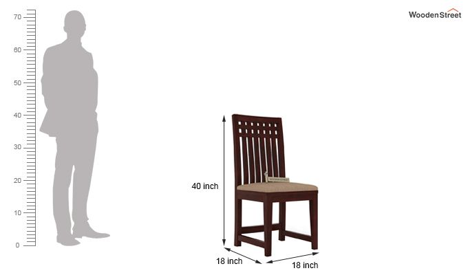 Adolph Dining Chair With Fabric (Mahogany Finish)-3