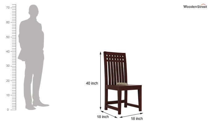 Adolph Dining Chair (Mahogany Finish)-3