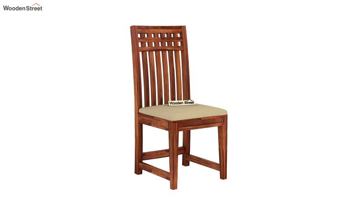 Adolph Dining Chair With Fabric (Honey Finish)-2