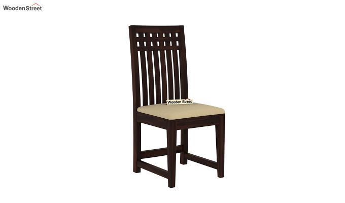 Adolph Dining Chair With Fabric (Walnut Finish)-2