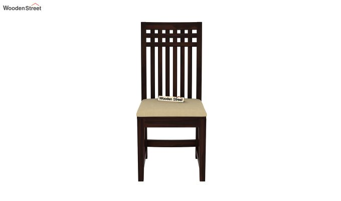 Adolph Dining Chair With Fabric (Walnut Finish)-3