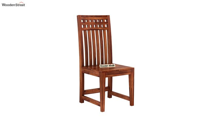 Adolph Dining Chair without Fabric (Honey Finish)-2