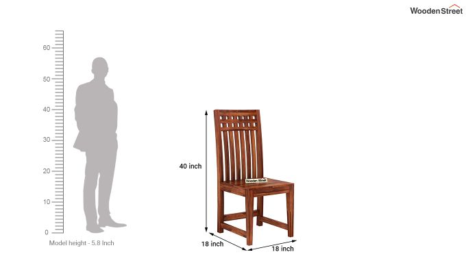 Adolph Dining Chair without Fabric (Honey Finish)-4