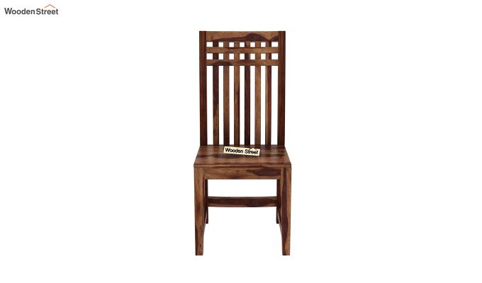 Adolph Dining Chair without Fabric (Teak Finish)-3