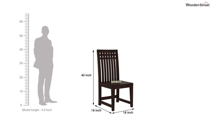 Adolph Dining Chair without Fabric (Walnut Finish)-4