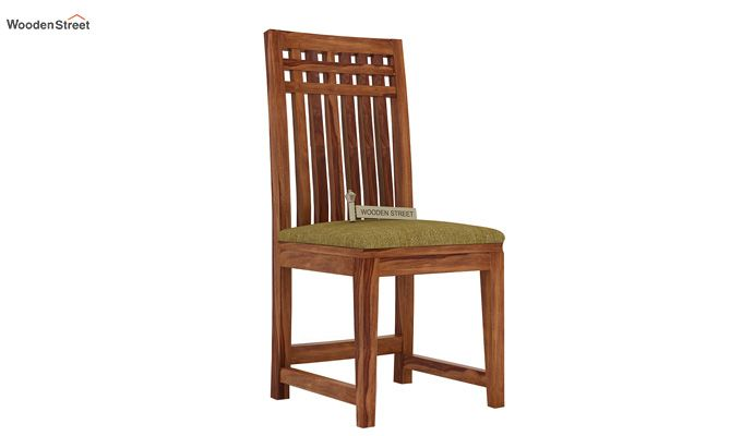 Adolph Dining Chair With Fabric (Teak Finish)-1
