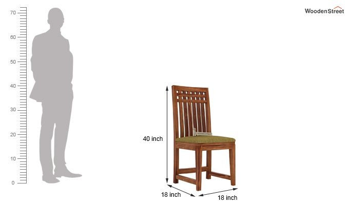 Adolph Dining Chair With Fabric (Teak Finish)-3