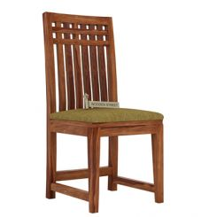 Adolph Dining Chair With Fabric (Teak Finish)