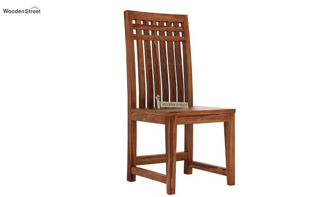 Adolph Dining Chair without Fabric (Teak Finish)-1