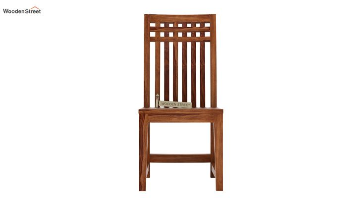 Adolph Dining Chair without Fabric (Teak Finish)-2