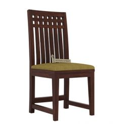 Adolph Dining Chair With Fabric (Walnut Finish)