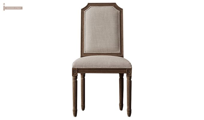 Alicia Dining Chair With Fabric (Teak Finish) -1