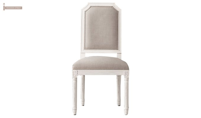 Alicia Dining Chair With Fabric (White Finish)-1