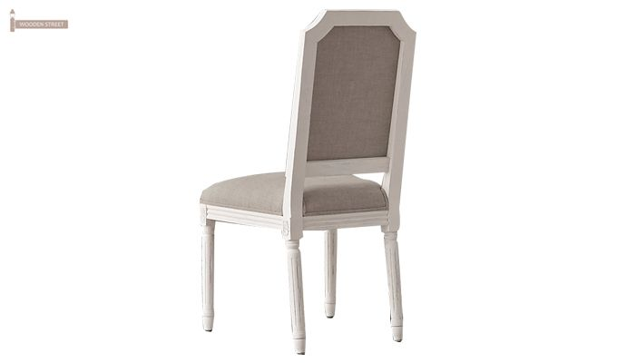 Alicia Dining Chair With Fabric (White Finish)-4