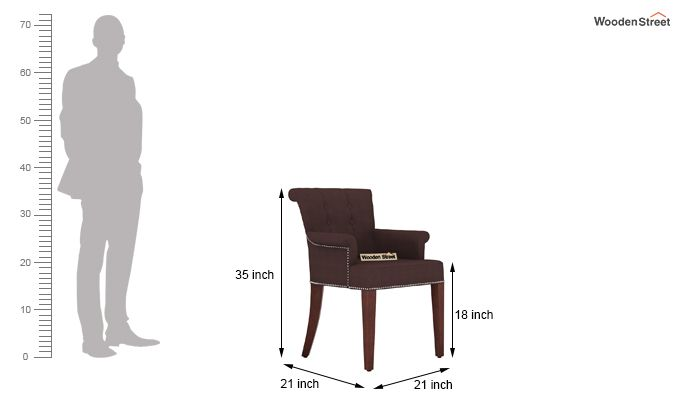 Altra Dining Chair (Fabric, Classic Brown)-3