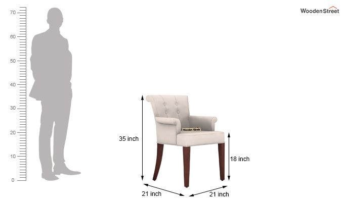 Altra Dining Chair (Fabric, Ivory Nude)-3