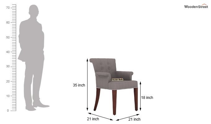 Altra Dining Chair (Fabric, Warm Grey)-3