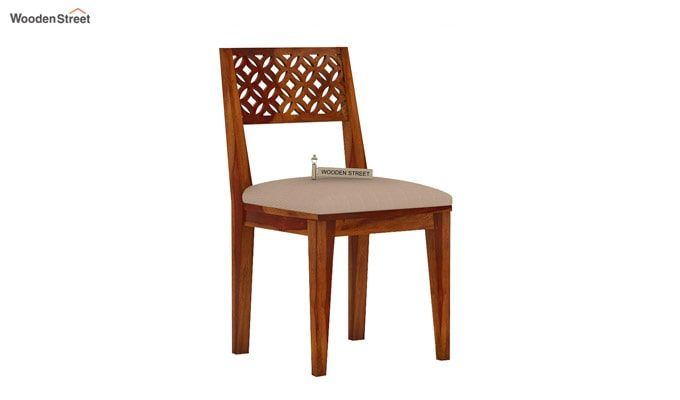 Cambrey Dining Chair With Fabric (Honey Finish)-2
