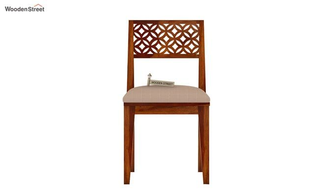 Cambrey Dining Chair With Fabric (Honey Finish)-3