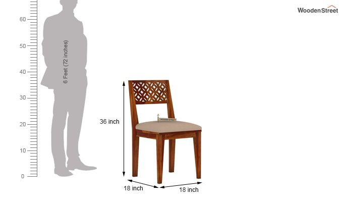 Cambrey Dining Chair With Fabric (Honey Finish)-4