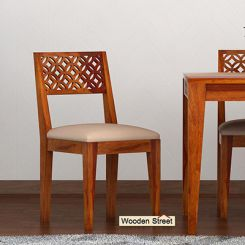 Cambrey Dining Chair With Fabric (Honey Finish)