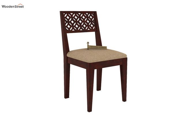 Cambrey Dining Chair With Fabric (Mahogany Finish)-1