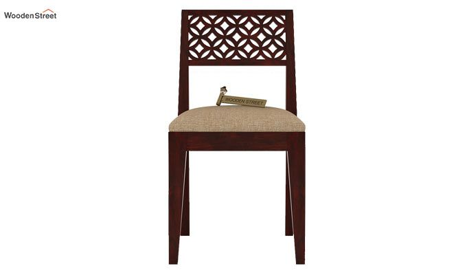 Cambrey Dining Chair With Fabric (Mahogany Finish)-2