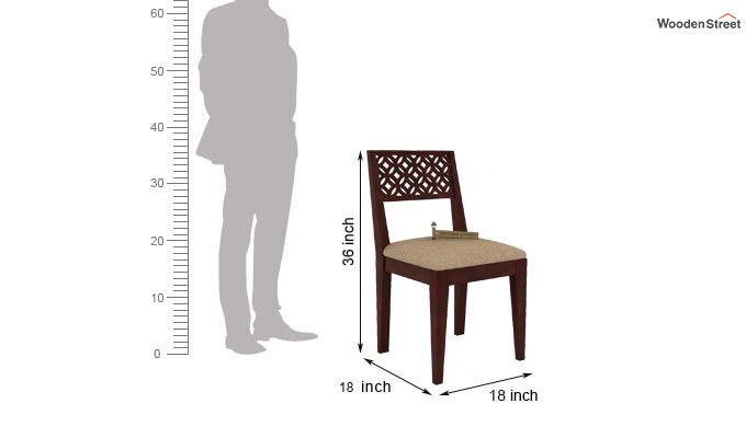 Cambrey Dining Chair With Fabric (Mahogany Finish)-3