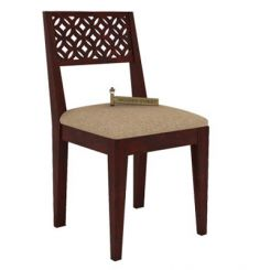 Cambrey Dining Chair With Fabric (Mahogany Finish)