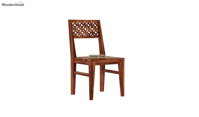 Cambrey Dining Chair Without Fabric (Honey Finish)-2