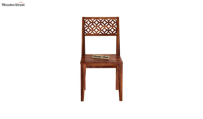 Cambrey Dining Chair Without Fabric (Honey Finish)-3
