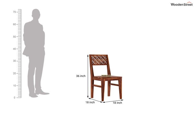 Cambrey Dining Chair Without Fabric (Honey Finish)-4