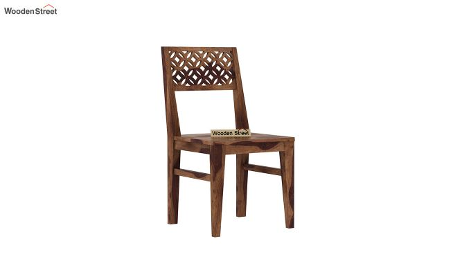 Cambrey Dining Chair Without Fabric (Teak Finish)-2