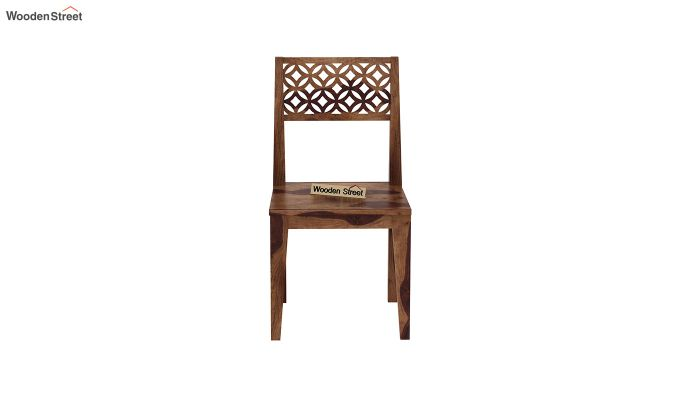 Cambrey Dining Chair Without Fabric (Teak Finish)-3