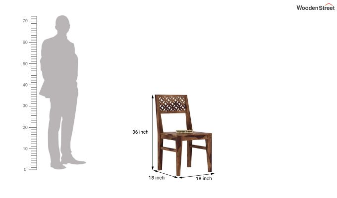 Cambrey Dining Chair Without Fabric (Teak Finish)-4