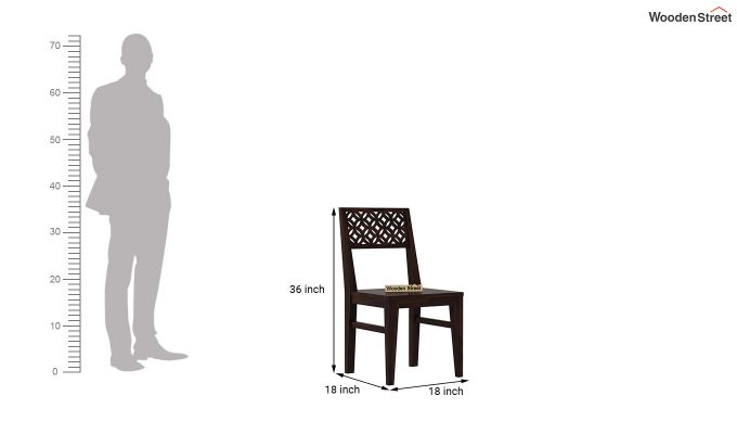 Cambrey Dining Chair Without Fabric (Walnut Finish)-4