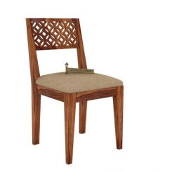 Cambrey Dining Chair With Fabric (Teak Finish)