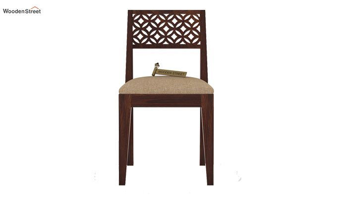 Cambrey Dining Chair With Fabric (Walnut Finish)-2