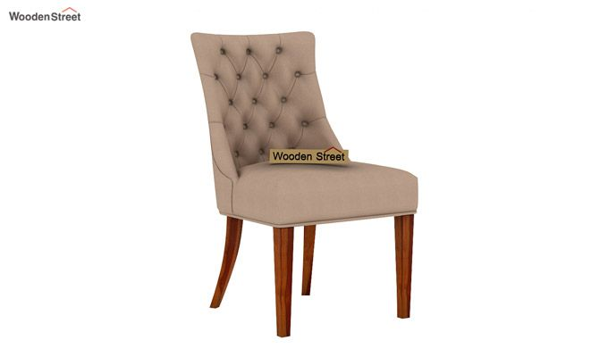 Crest Dining Chair (Honey Finish, Irish Cream)-2