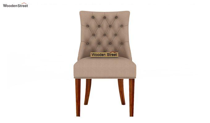 Crest Dining Chair (Honey Finish, Irish Cream)-3