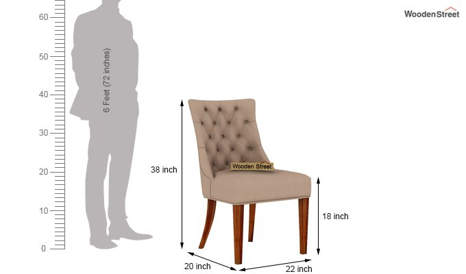 Crest Dining Chair (Honey Finish, Irish Cream)-4