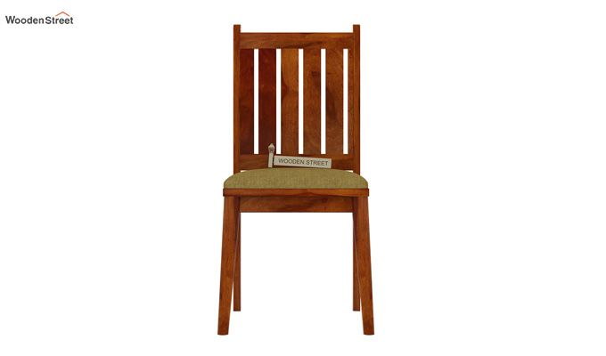 Dawson Dining Chair With Fabric (Honey Finish)-2