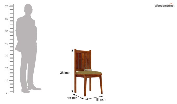 Dawson Dining Chair With Fabric (Honey Finish)-3