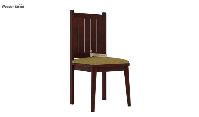 Dawson Dining Chair With Fabric (Mahogany Finish)-1