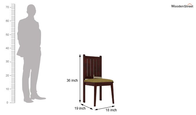 Dawson Dining Chair With Fabric (Mahogany Finish)-3